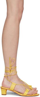 Martiniano Yellow Pavone Sandals