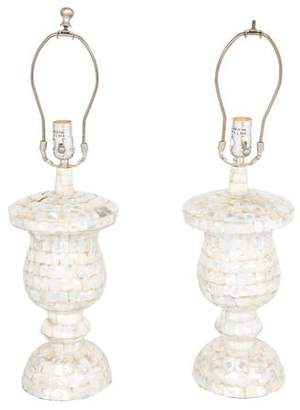 Mother of Pearl Pair of Jamie Young Table Lamps