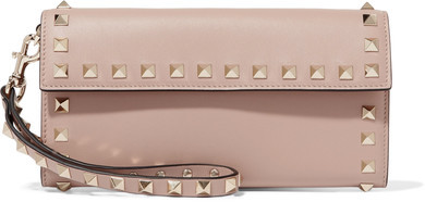 Valentino - The Rockstud Leather Wallet - Blush