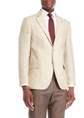 Nautica Tan Briella Linen Suit Jacket