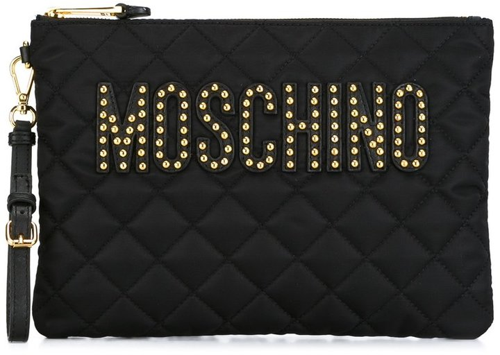 Moschino Moschino quilted clutch