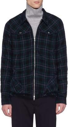 John Undercover Johnundercover Metallic stripe tartan plaid herringbone shirt jacket