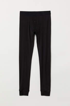 H&M Cotton Long Johns - Black