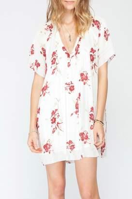 Gentle Fawn V Neck Pleat Dress