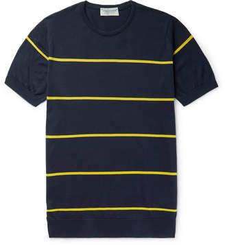 John Smedley Striped Sea Island Cotton T-Shirt