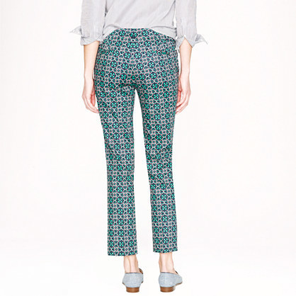 J.Crew Campbell capri in lattice medallion