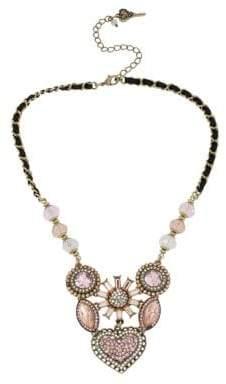 Betsey Johnson Crystallized Vintage Heart Six-Piece Necklace