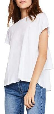 BCBGeneration Tiered Ruffle Back Tee
