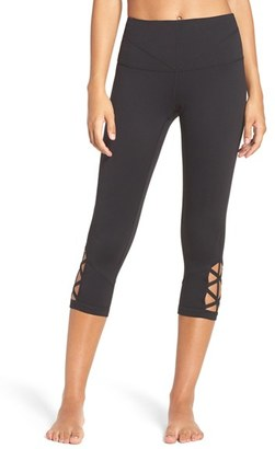 Women's Zella 'Midnight' High Waist Crop Leggings $59 thestylecure.com
