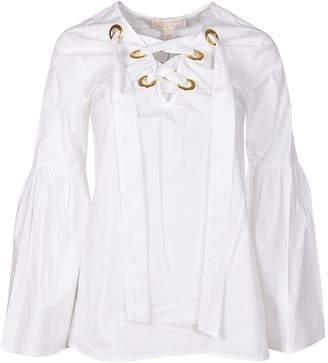 MICHAEL Michael Kors Michael Kors Long-sleeved Tie Neck Blouse