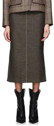 Fendi Women's Checked Wool-Blend Pencil Skirt - Gray