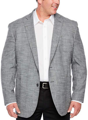 STAFFORD Stafford Merino Flannel Stretch Micro Houndstooth Classic Fit Sport Coat - Big and Tall