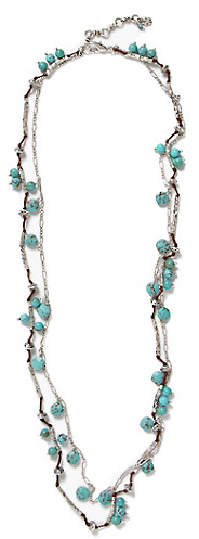 Lucky Brand Turquoise Beaded Strand Necklace