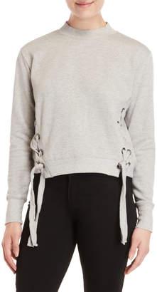 Romeo & Juliet Couture Romeo + Juliet Couture Side Lace-Up Pullover Sweatshirt