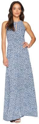 MICHAEL Michael Kors Floral Halter Maxi Dress Women's Dress