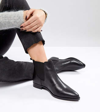 Asos Design AUTOMATIC Wide Fit Leather Chelsea Boots