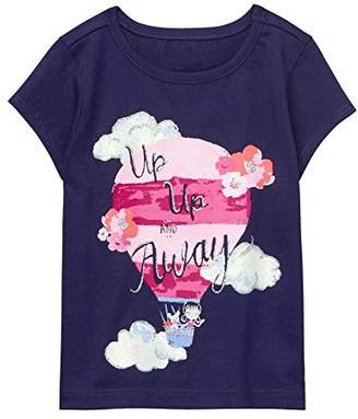 Gymboree Baby Girls' Toddler Short Sleeve Glitter Graphic Tee