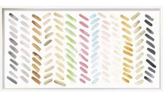 East Urban Home 'Watercolor Swipes Bright' Print on Canvas