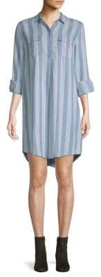 Saks Fifth Avenue Long-Sleeve Striped Shirtdress