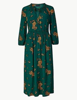 Marks and Spencer Floral Print Tea Midi Dress