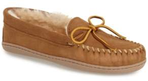Minnetonka Sheepskin Hard Sole Moccasin Slipper (Women)