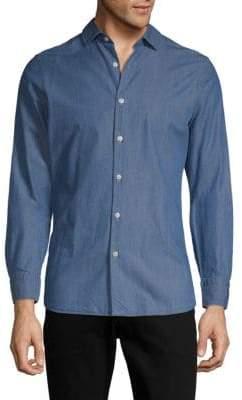 J. Lindeberg Long-Sleeve Cotton Button-Down Shirt