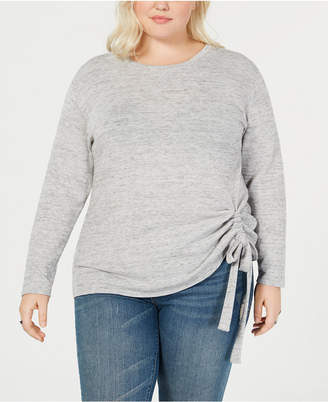 INC International Concepts I.n.c. Plus Size Tunnel-Tie Top