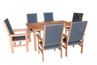 7 Piece Barossa & Murray Outdoor Dining Table & Chair Set