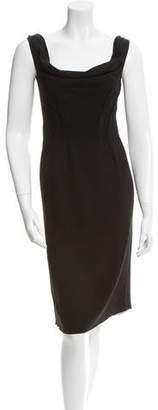 Prada Sheath Cowl Neck Dress