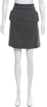 Tory Burch Knee-Length Tonal Stitched Skirt