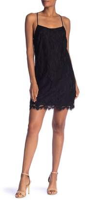 1 STATE 1.State Floral Lace Racerback Shift Dress