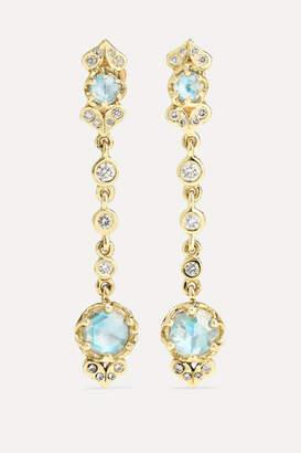 Larkspur & Hawk Ivy 14-karat Gold Diamond Earrings - one size