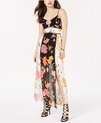 GUESS Sleeveless Printed Maxi Dress