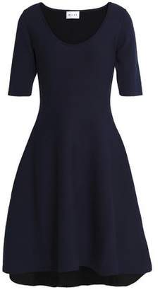 Milly Reversible Flared Stretch-Knit Dress