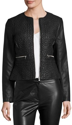 French Connection Medina Stitch Faux-Leather Jacket, Black $159 thestylecure.com