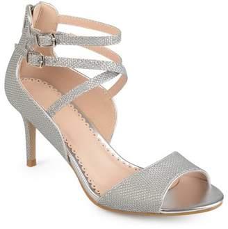 Brinley Co. Womens Open Toe Glitter Strappy Heels