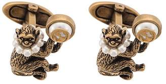 Gucci monkey cufflinks