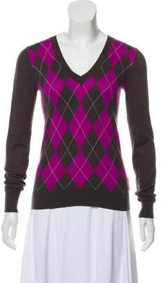Ben Sherman V-Neck Argyle Sweater