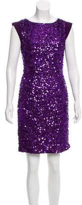 Jenny Packham Embellished Silk Dress