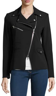 Veronica Beard Hadley Zip-Front Scuba Jacket
