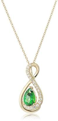 Rainforest Women's Yellow Gold Plated Sterling Silver Swarovski Natural Topaz Pendant Necklace