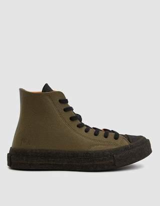 Converse JW Anderson Felt Chuck 70 Hi Sneaker in Stone Gray/Flame Orange