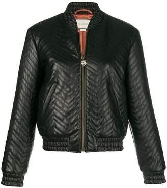 Gucci matelassé bomber jacket