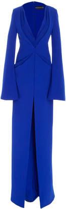 Brandon Maxwell Layered Full Length Dress