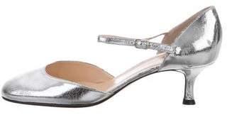 Christian Louboutin Metallic Ankle-Strap Pumps