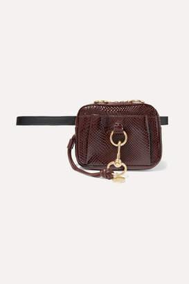 See by Chloe Tony Snake-effect Leather Belt Bag - Burgundy