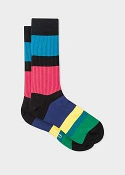 Paul Smith Men's 'Cycle Stripe' Ribbed Socks