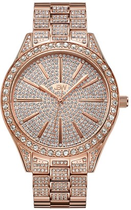 JBW Women's Cristal Diamond Accent & Crystal Stainless Steel Watch