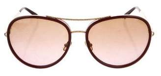 Tory Burch Aviator Metal Sunglasses