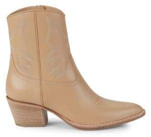 Valentino Point-Toe Leather Booties
